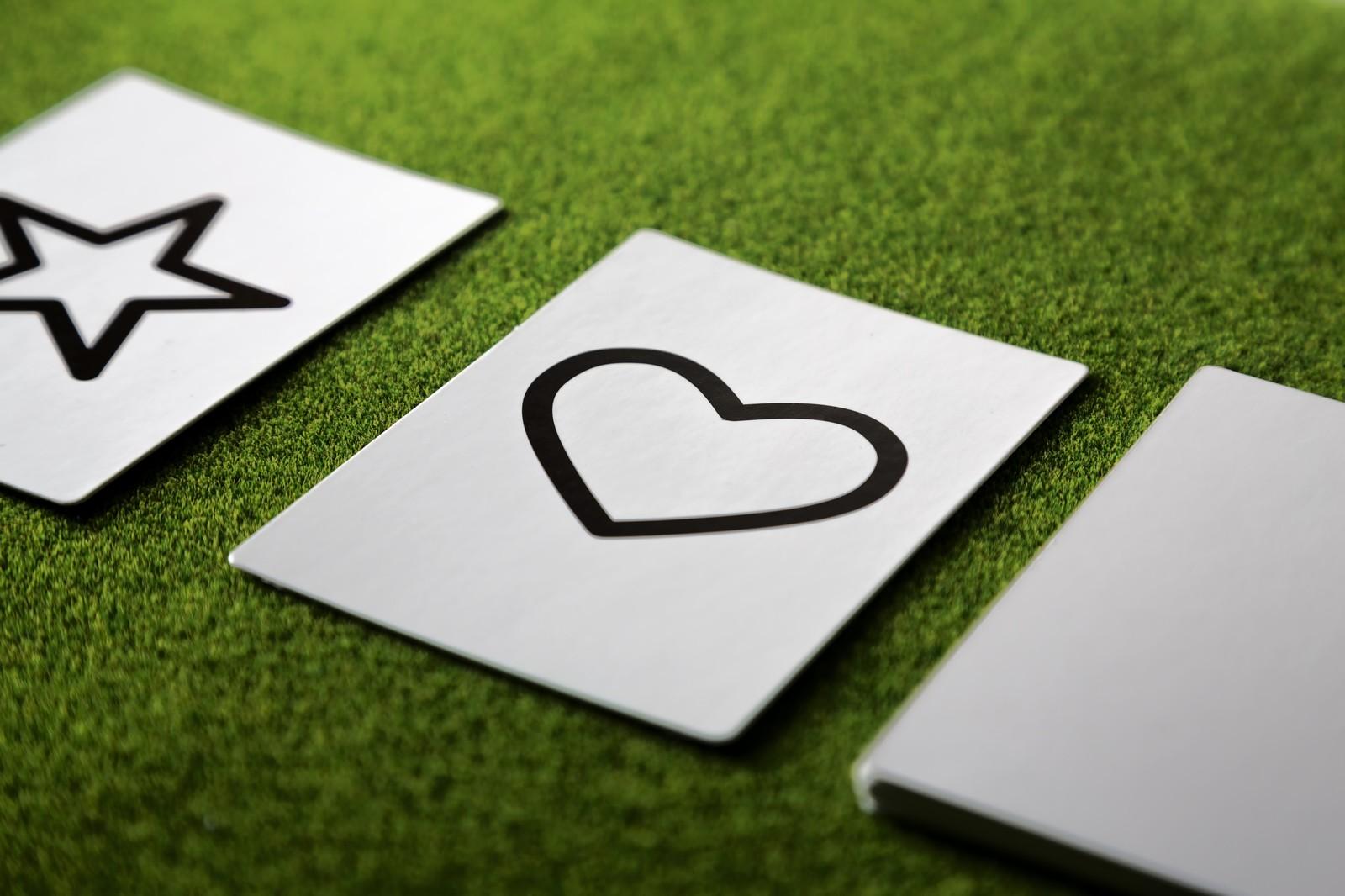 ハートのカード