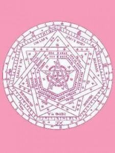 ピンクの魔法陣