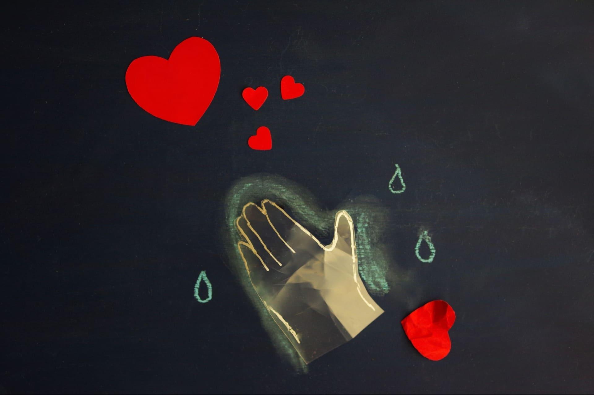 愛情の枯渇のイメージ