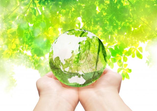 緑と水晶と手のひら