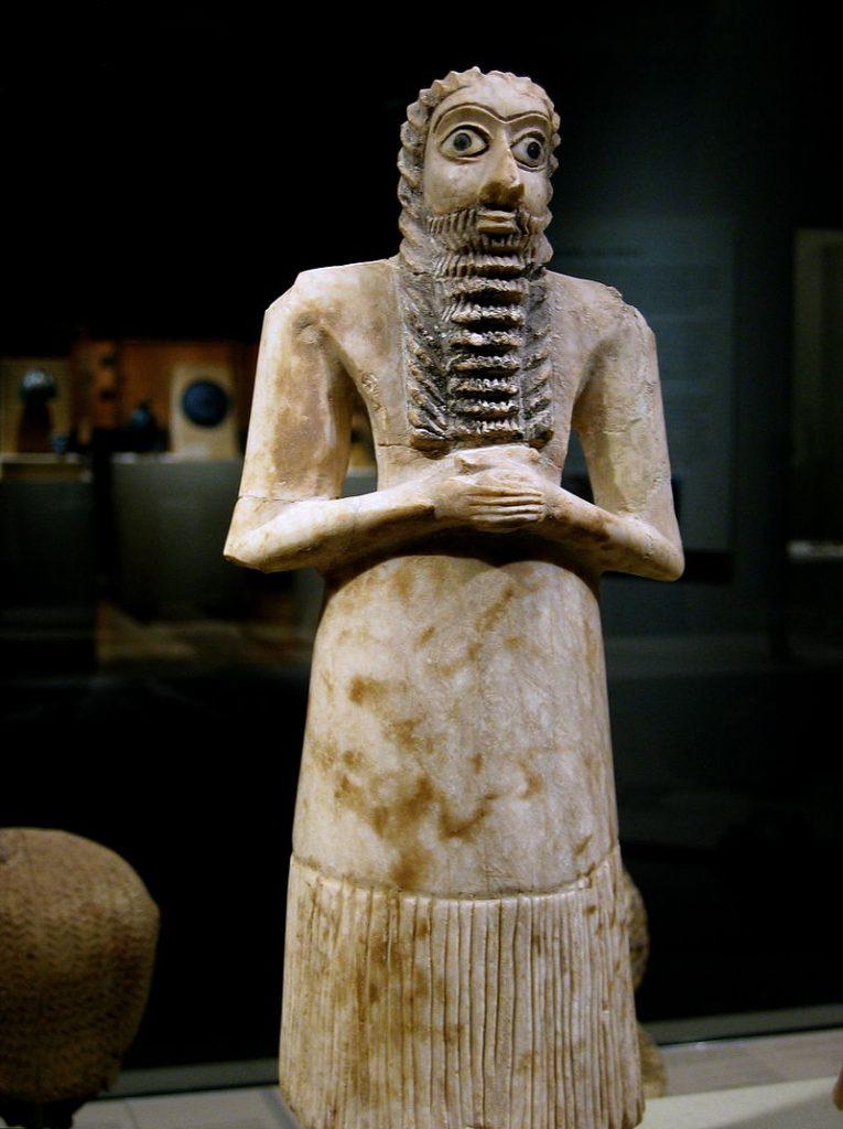 シュメールの石像