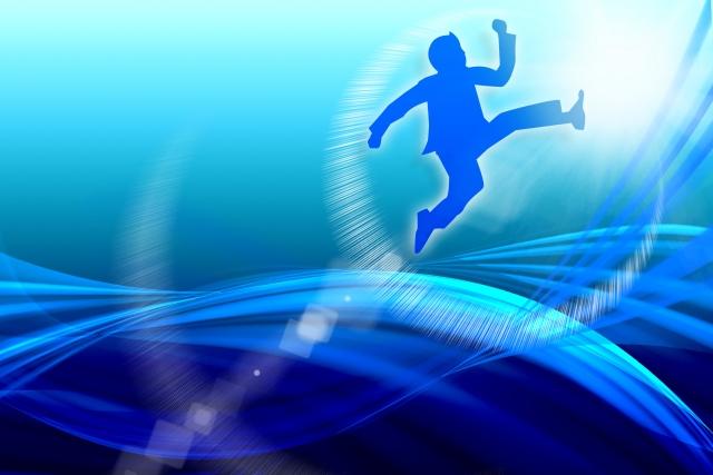 ジャンプするイメージ