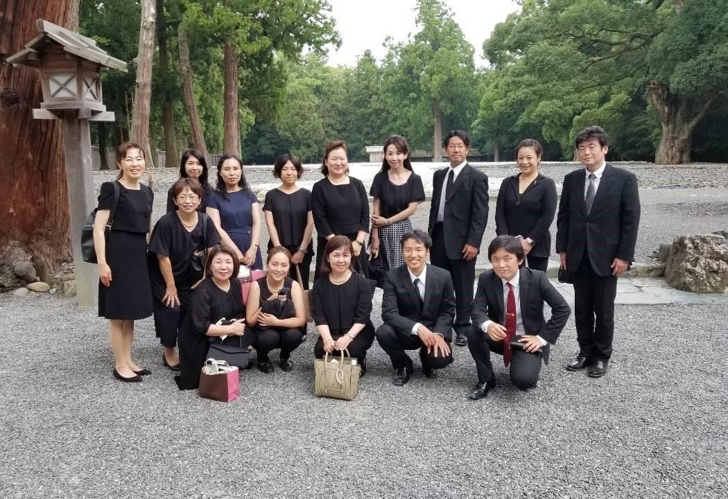 伊勢神宮参拝の集合写真