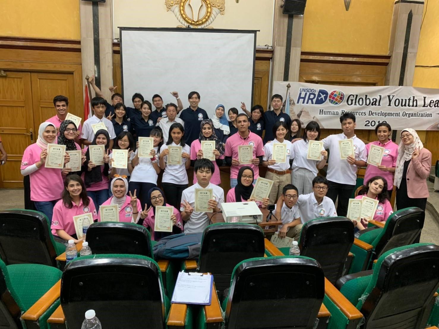 一般社団法人UNSDGs人材育成機構・カイロ大学での発表会