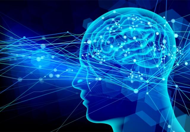 脳の神経伝達のイメージ