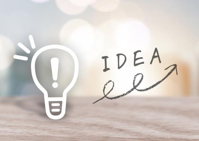 電球とIDEAの文字